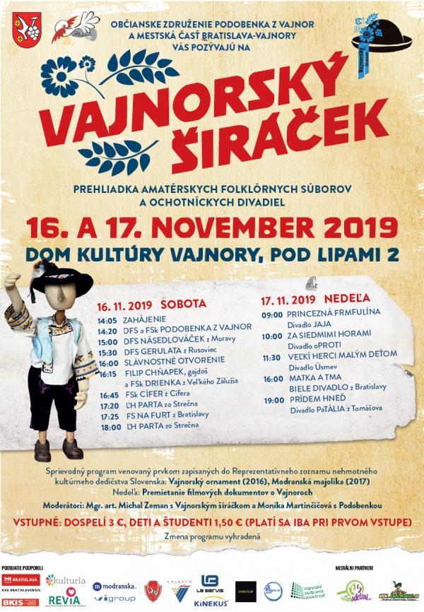 Vajnorský širáček 16. a 17. novembra 2019