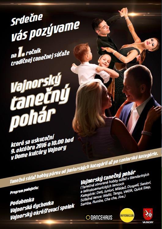 Vajnorský tanečný pohár 2016