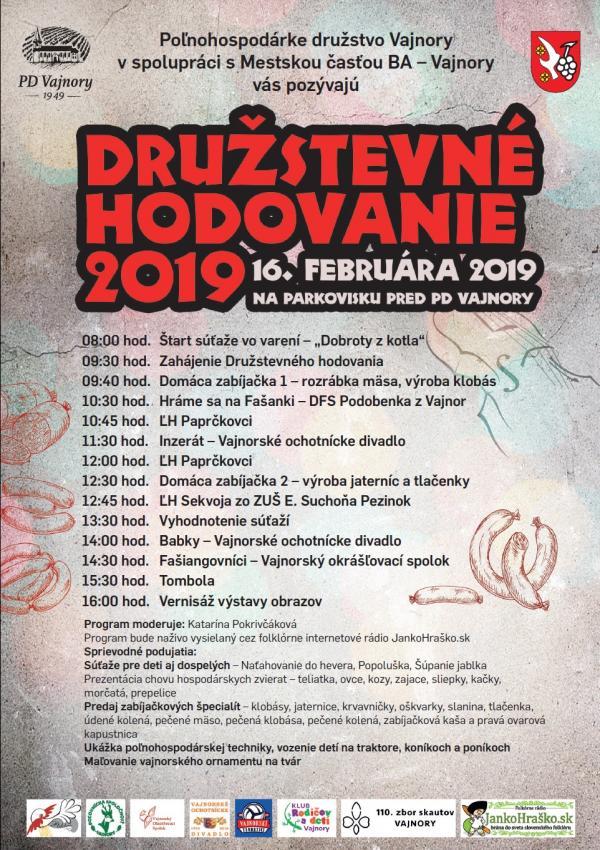 Družstevné hodovanie 16. februára 2019