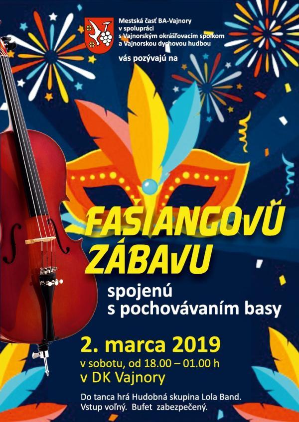 Fašiangová zábava 2. marca 2019