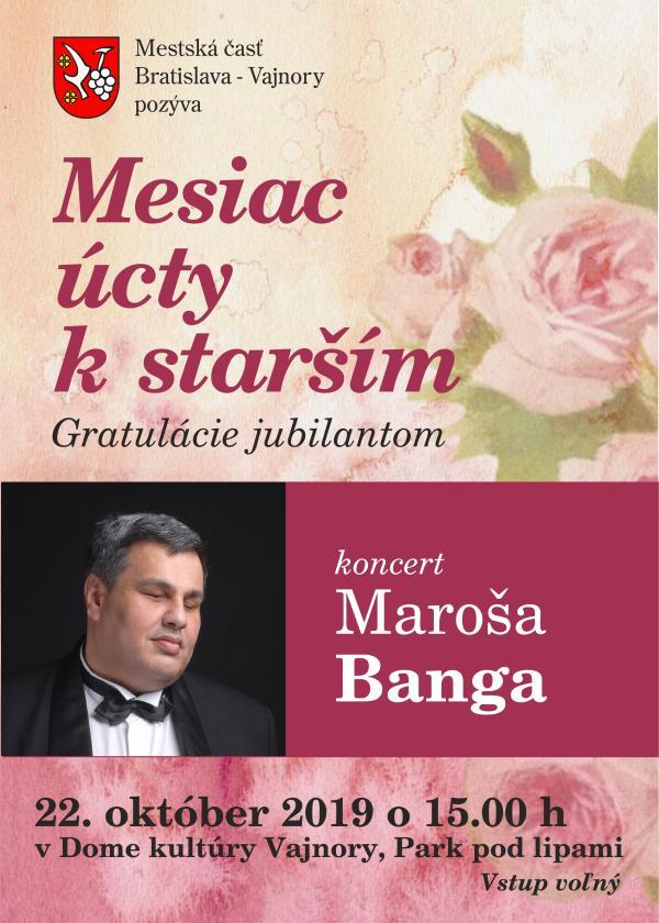 Koncert pri príležitosti mesiaca úcty k starším 22. októbra 2019