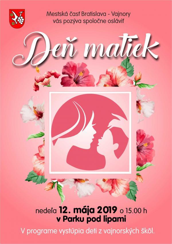 Deň matiek 12. mája 2019