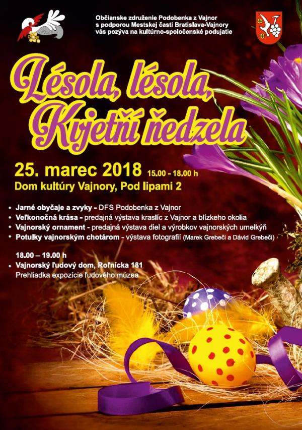 Kvetná nedeľa vo Vajnoroch 25. marec 2018