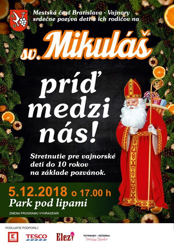 Stretnutie so sv. Mikulášom 5. decembra 2018