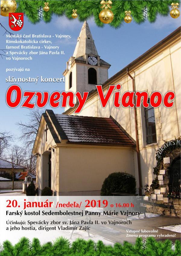 """Koncert """"Ozveny Vianoc"""" 20. január 2019"""