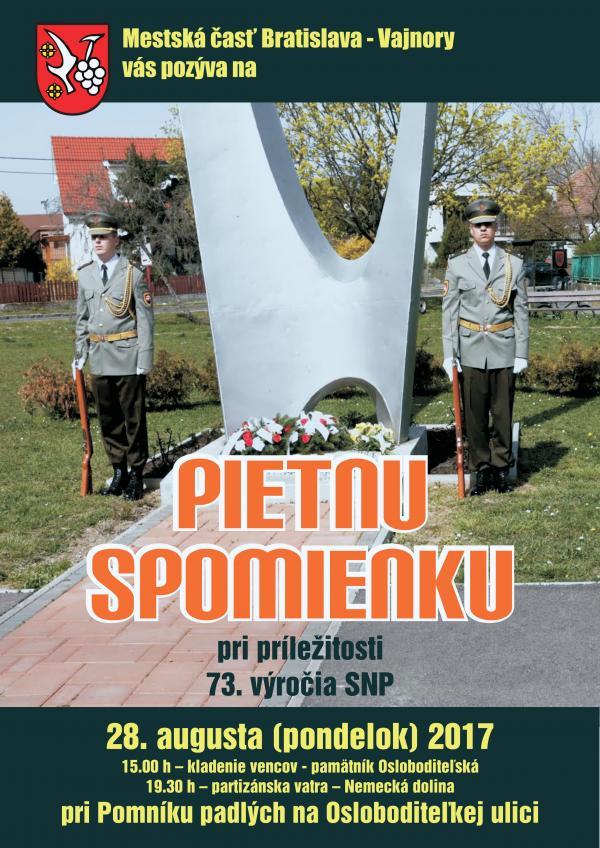 Pripomíname si 73. výročie SNP