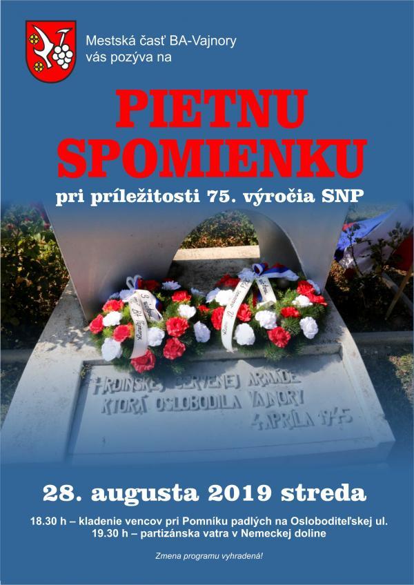 Pietna spomienka pri príležitosti 75. výročia SNP 28. augusta 2019