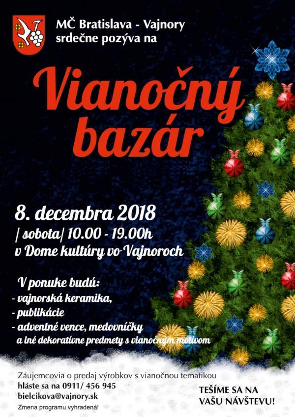 Vianočný bazár 8. decembra 2018