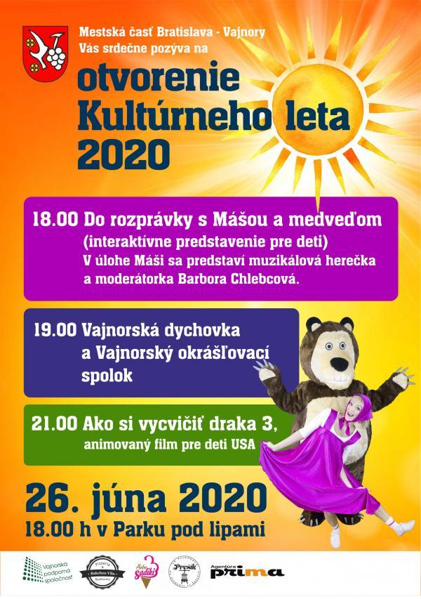 Otvorenie Kultúrneho leta 26.júna 2020