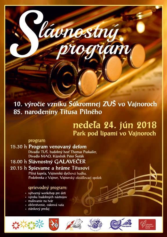 Slávnostný program k výročiam ... 24. júna 2018