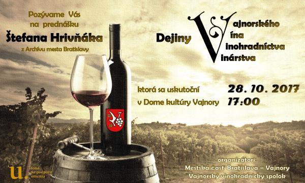 Dejiny Vajnorského vína, vinohradníctva, vinárstva