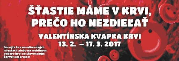 Valentínska kvapka krvi 13.2.2017