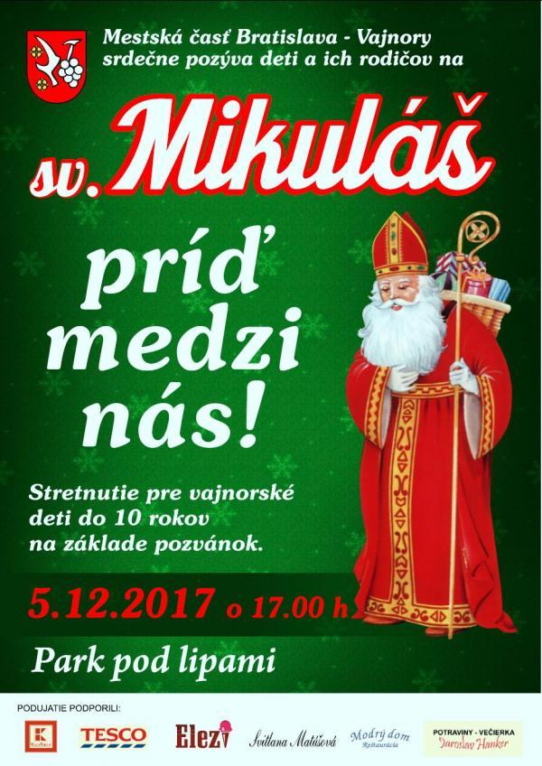 Sv. Mikuláš 5. decembra 2017