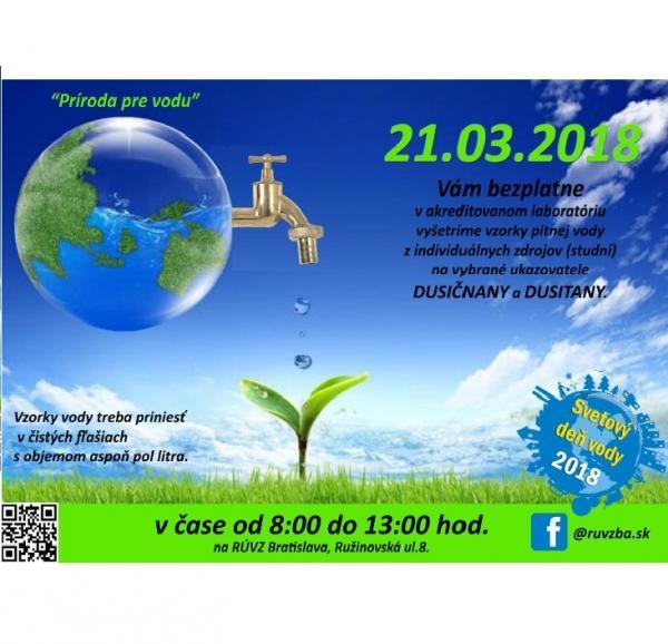 Svetový deň vody 21. marca 2018