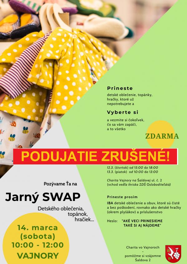 Jarný SWAP 14. marca 2020