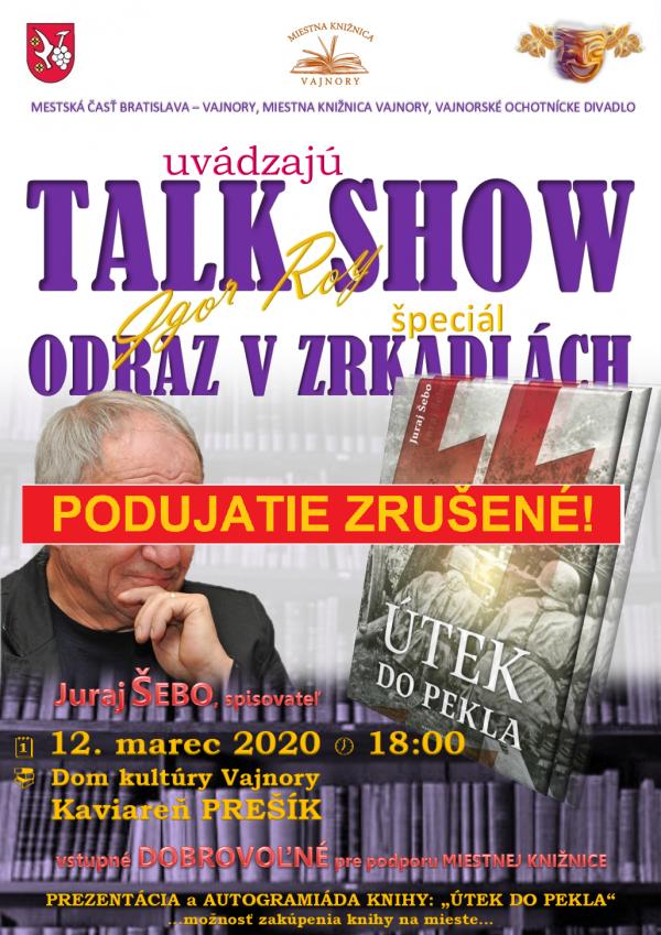 "Talk show Igora Roya ""Odraz v zrkadlách"" ŠPECIÁL 12. marca 2020"