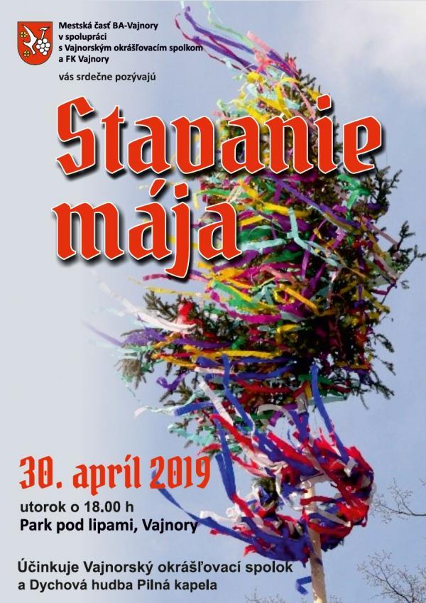 Stavanie mája 30. apríla 2019