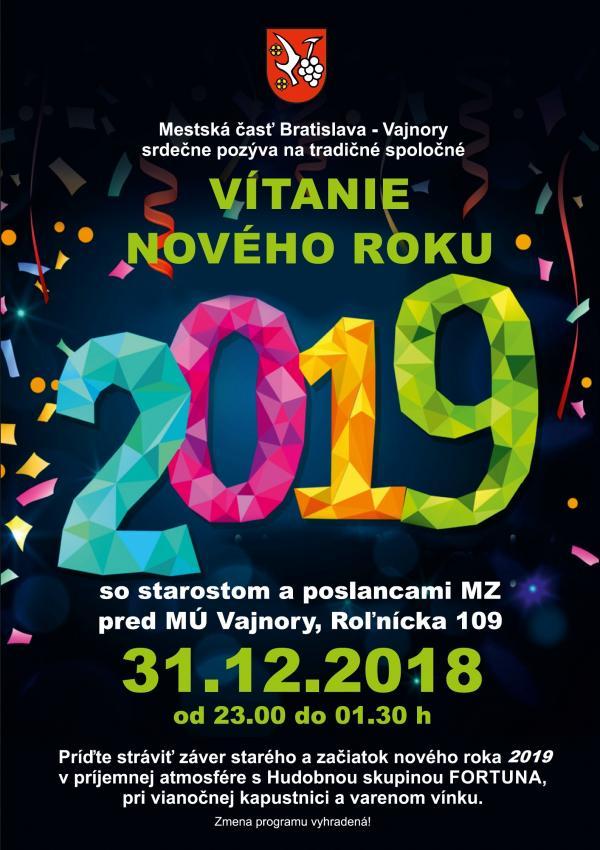 Vítanie nového roku 2019