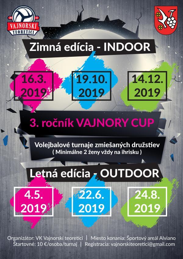Dožinkový Vajnory CUP 2019  začína o 8:30 hodine